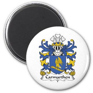 Escudo de la familia de Carmarthen Imán Redondo 5 Cm