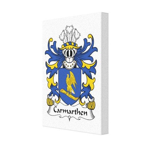 Escudo de la familia de Carmarthen Impresión En Tela