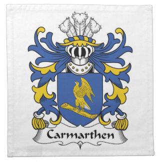 Escudo de la familia de Carmarthen Servilleta De Papel