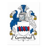 Escudo de la familia de Carmichael Postal
