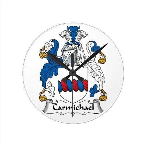 Escudo de la familia de Carmichael Reloj