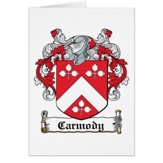Escudo de la familia de Carmody Tarjeta De Felicitación