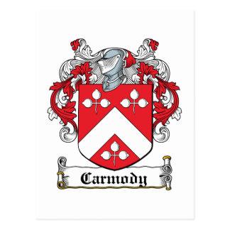 Escudo de la familia de Carmody Tarjetas Postales