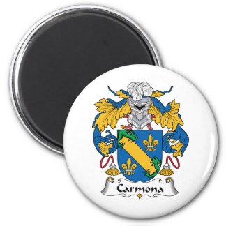 Escudo de la familia de Carmona Imán Redondo 5 Cm