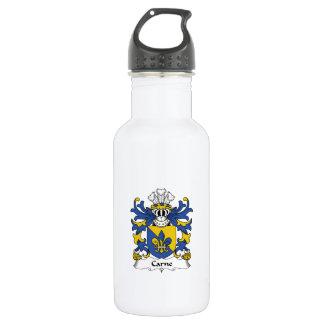 Escudo de la familia de Carne Botella De Agua De Acero Inoxidable
