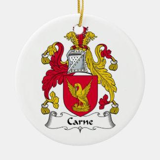 Escudo de la familia de Carne Ornaments Para Arbol De Navidad