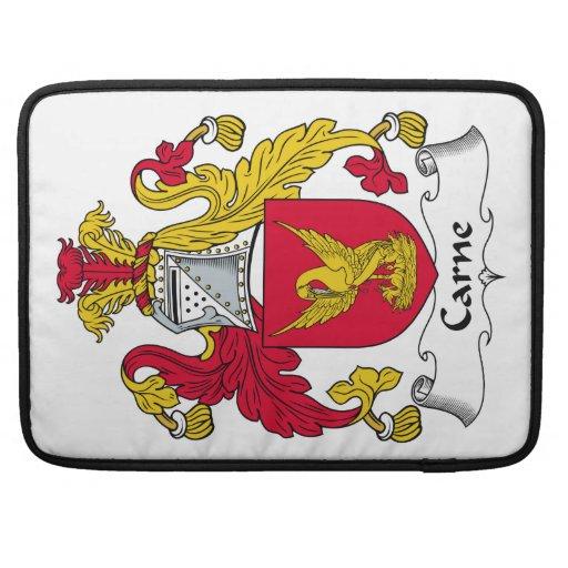 Escudo de la familia de Carne Fundas Para Macbooks