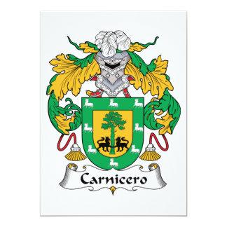 """Escudo de la familia de Carnicero Invitación 5"""" X 7"""""""