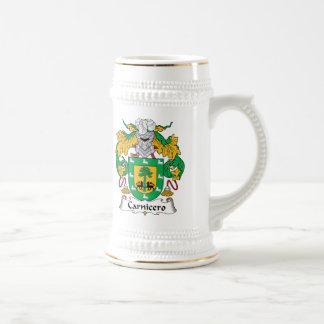 Escudo de la familia de Carnicero Jarra De Cerveza