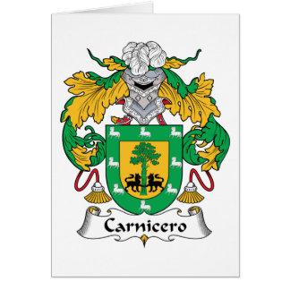 Escudo de la familia de Carnicero Tarjeta De Felicitación