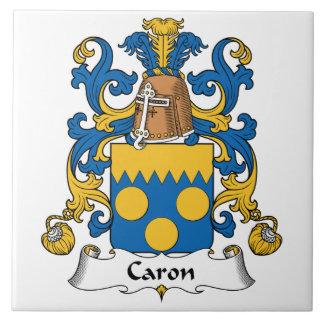 Escudo de la familia de Caron Azulejo Cuadrado Grande
