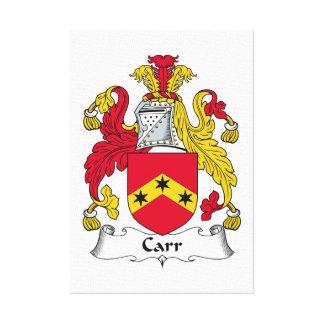 Escudo de la familia de Carr Impresión En Tela