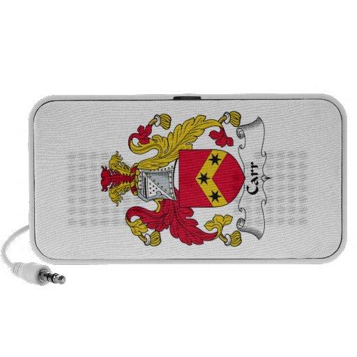 Escudo de la familia de Carr iPod Altavoces