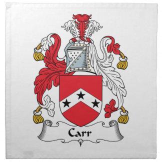 Escudo de la familia de Carr Servilletas Imprimidas