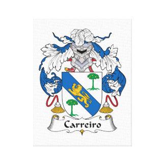 Escudo de la familia de Carreiro Lienzo Envuelto Para Galerias