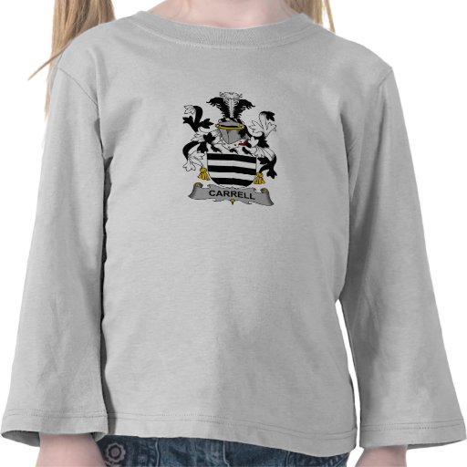 Escudo de la familia de Carrell Camiseta