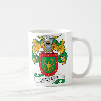 Escudo de la familia de Carreno Taza De Café