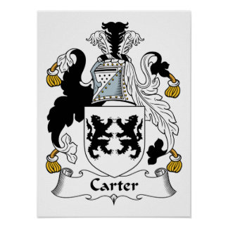 Escudo de la familia de Carretero Póster
