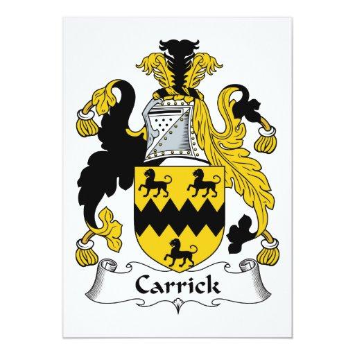 """Escudo de la familia de Carrick Invitación 5"""" X 7"""""""