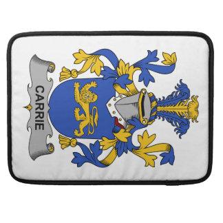Escudo de la familia de Carrie Funda Para Macbooks