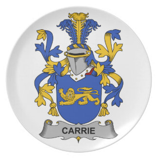 Escudo de la familia de Carrie Plato De Cena