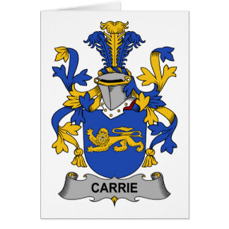 Escudo de la familia de Carrie Tarjetón