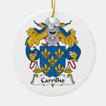 Escudo de la familia de Carrilho Ornamentos Para Reyes Magos
