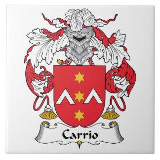 Escudo de la familia de Carrio Azulejo Cerámica