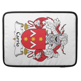 Escudo de la familia de Carrio Funda Macbook Pro