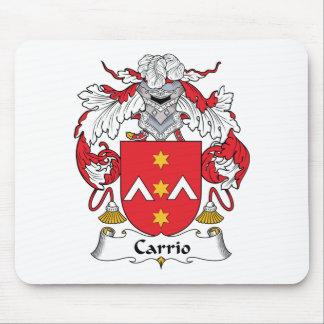 Escudo de la familia de Carrio Alfombrillas De Ratón