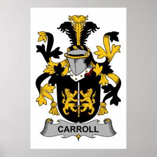 Escudo de la familia de Carroll Impresiones