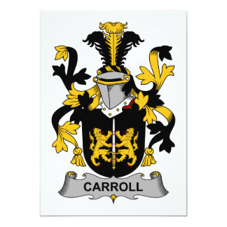 Escudo de la familia de Carroll Invitacion Personalizada