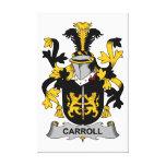 Escudo de la familia de Carroll Impresiones En Lona