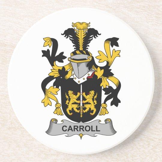 Escudo de la familia de Carroll Posavasos De Arenisca