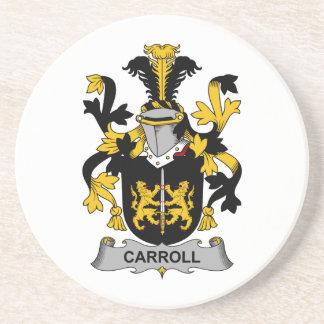 Escudo de la familia de Carroll Posavasos Diseño
