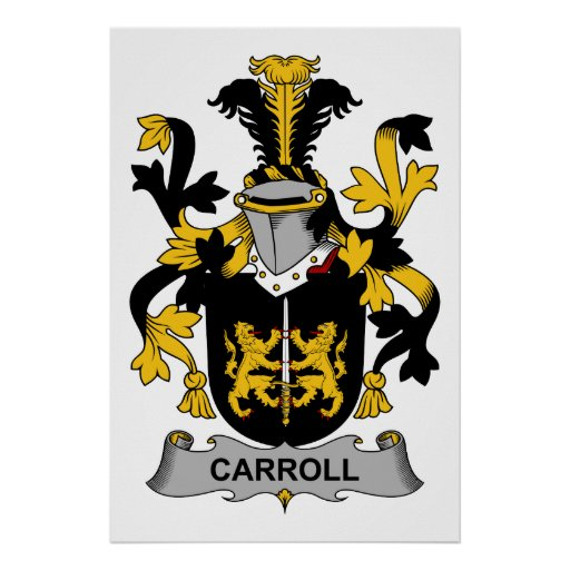 Escudo de la familia de Carroll Póster