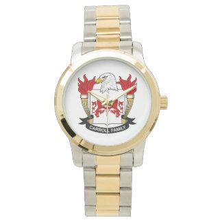 Escudo de la familia de Carroll Reloj De Mano