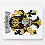 Escudo de la familia de Carroll Alfombrillas De Ratones