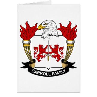 Escudo de la familia de Carroll Felicitaciones