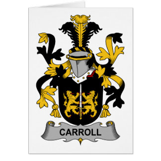Escudo de la familia de Carroll Tarjetas