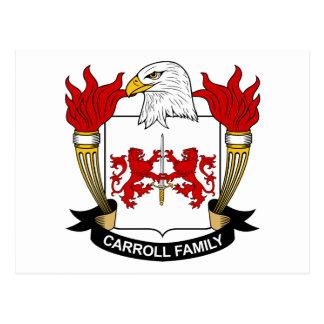 Escudo de la familia de Carroll Postales