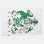 Escudo de la familia de Carse Toallas De Mano