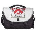 Escudo de la familia de Carson Bolsas Para Portátil