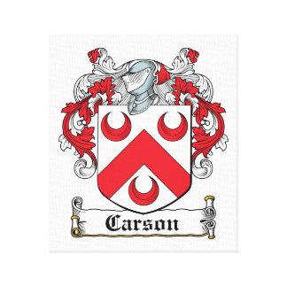 Escudo de la familia de Carson Lona Envuelta Para Galerías