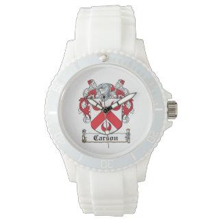 Escudo de la familia de Carson Reloj De Mano