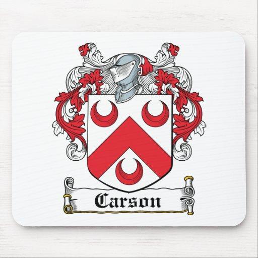 Escudo de la familia de Carson Tapete De Ratón