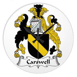 Escudo de la familia de Carswell Reloj Redondo Grande