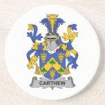 Escudo de la familia de Carthew Posavasos Diseño