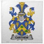 Escudo de la familia de Carthew Servilleta De Papel