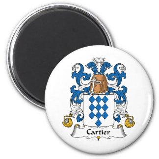 Escudo de la familia de Cartier Imán Para Frigorífico